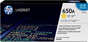 HP 650A | CE272A | Toner Cartridge | Yellow