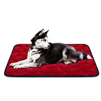 Hero Dog Cama Colchoneta Perro Grande Lavable, Cojines para Mascotas Antideslizante Vellón Almohadilla Suave 107x70 cm (Rojo L): Amazon.es: Productos para ...