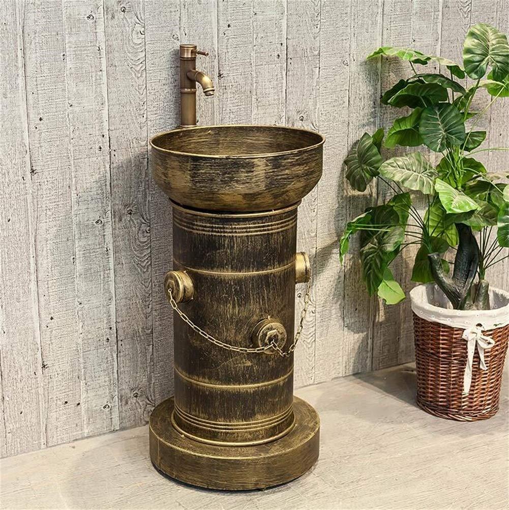 Couleur : Bronze Lavabo de salle de bain de style industriel Loft de haute qualit/é Iron Art Lavabo