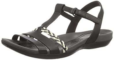 3 Women's Grace Sandals Leather Clarks 5 Tealite Black Fashion Uk uFcK1JTl3