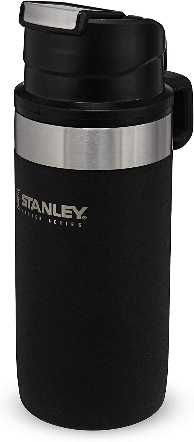 Stanley The Unbreakable Master Series Vacuum Trigger-Action Mug .35L Foundry Black 18/8 Stainless Steel Quadvac InsulationLeakproof Packable Naturally Bpa-Free