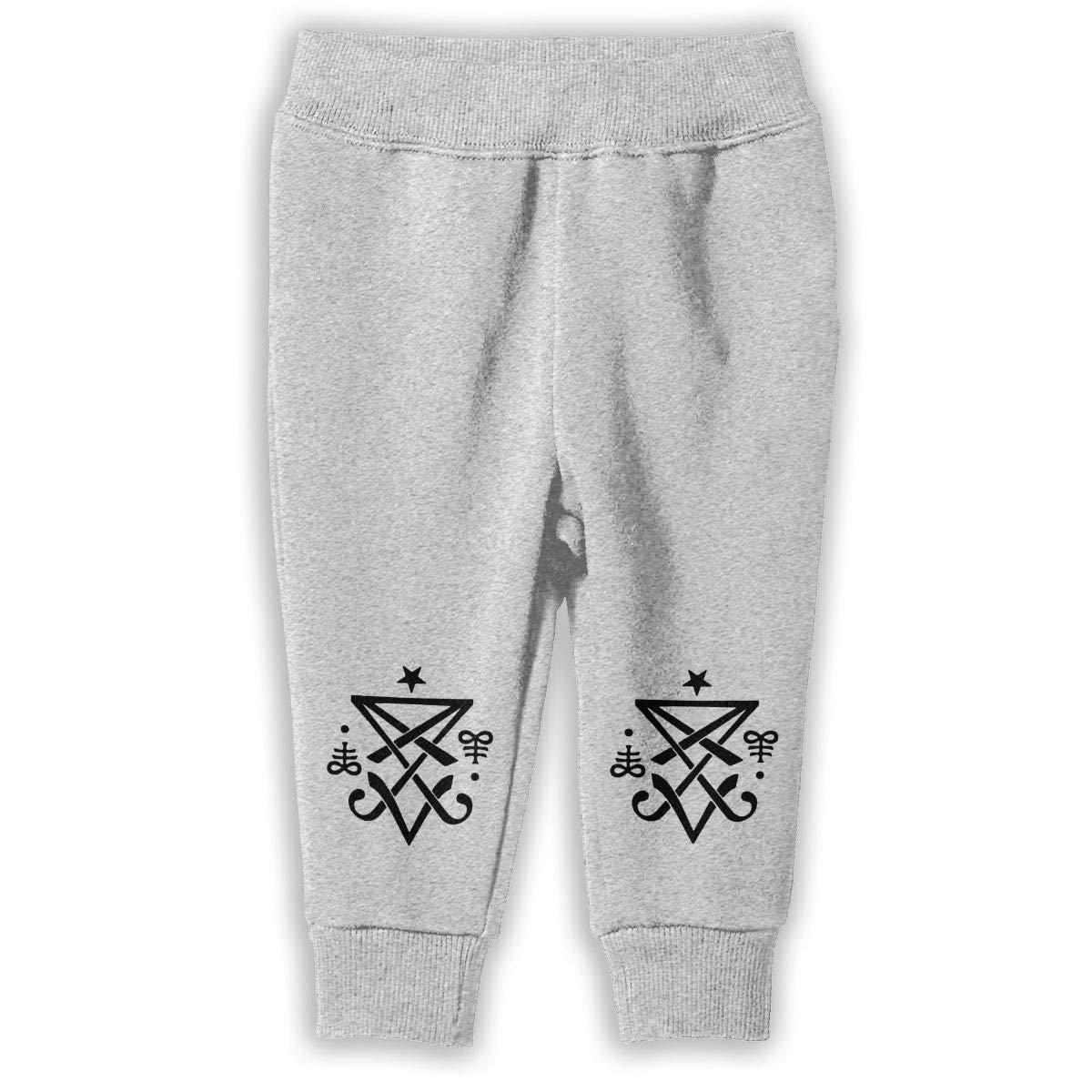 ShineFun Printed Occult Sigil of Lucifer Satanic Child Boys /& Girls Unisex Sports Sweatpants