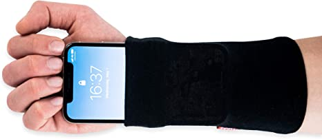 Phone Stretch; Smartphone; pulsera de bolsillo para móvil; Smartph One Funda para correr, Running, Fitness, Deporte; de pulsera; Antebrazo bolso unidad; funda; negro Talla:large: Amazon.es: Deportes y aire libre