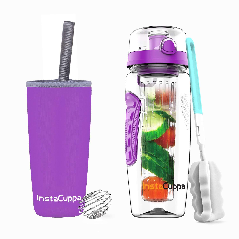 InstaCuppa Tritan Water Bottle, 1L, Purple