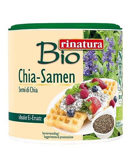 Rinatura Semillas de Chía Bio - Paquete de 6 x 125 gr - Total: 750