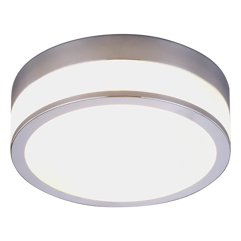 Lampenwelt DeckenleuchteFlavi dimmbar (spritzwassergeschützt) (Modern) in Weiß aus Glas u.a. für Badezimmer (2 flammig, E27, A++) | Bad-Deckenleuchte, Deckenlampe, Lampe, Badezimmerleuchte [Energieklasse A++]