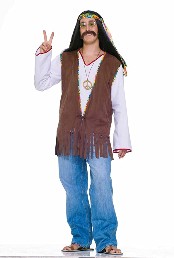 Retro Clothing for Men | Vintage Men's Fashion Sonny Bono Hippie Vest 60s 70s Hippie Costume Vest 61664 $15.88 AT vintagedancer.com