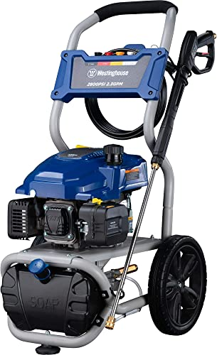 Westinghouse WPX2800 Gas Powered Pressure Washer with Soap Injection – 2800 PSI 2.3 GPM – One Gallon Reservoir – 25 SUPR-Flex Hose – 4 Quick-Change Nozzles