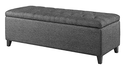 Amazoncom Upholstered Storage Bench Interior Storage Bench With