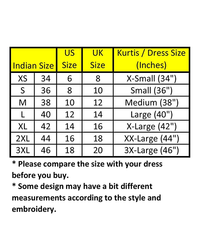 indian size chart to us - Tiyam