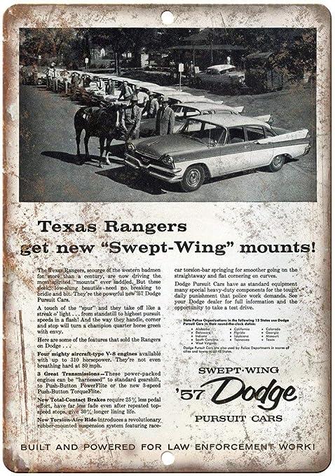 Dodge Pursuit Cars Póster De Pared Metal Retro Placa Cartel ...