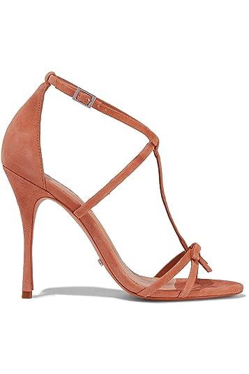 fe647af9d2d SCHUTZ Women s Sabina Toasted Nut Brown Bow-Embellished High Heel Suede  Sandals ...