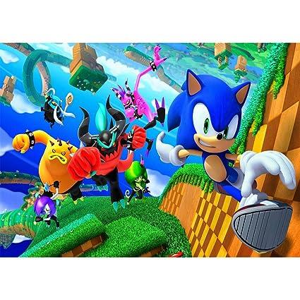 Sonic Fondo de fotografía de 7 x 5 Dibujos Animados Fondo de ...
