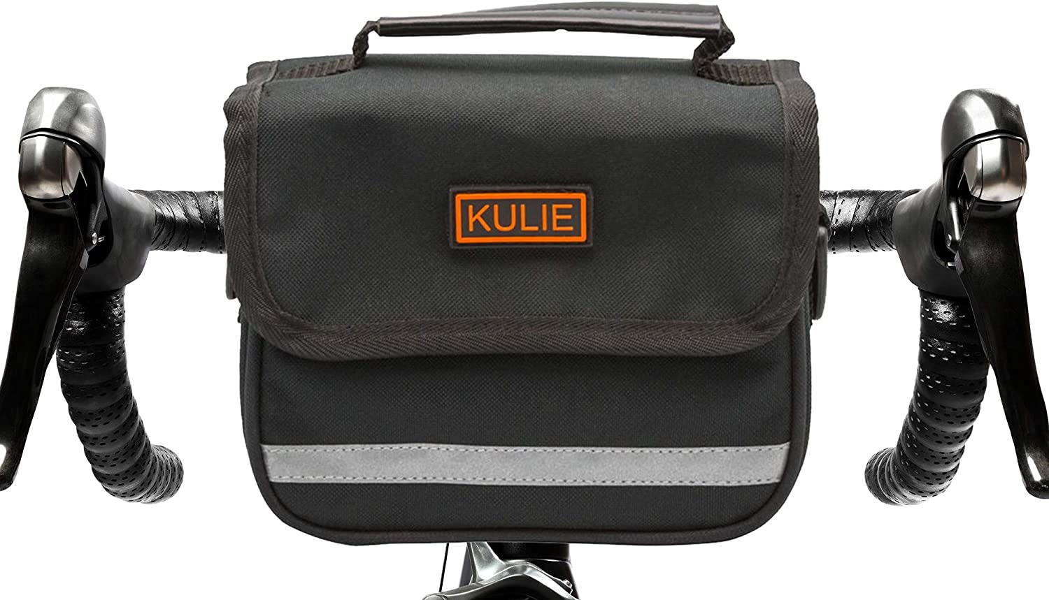 Kulie 2L UrbanTourist Bicycle Bag|Bike Handlebar Stem Bag|Small Pouch Standout Style|Simple Reliable Universal Strap Mount|Waterproof Hand Contoured Firm Body| Removable Strap Converts to Crossbody