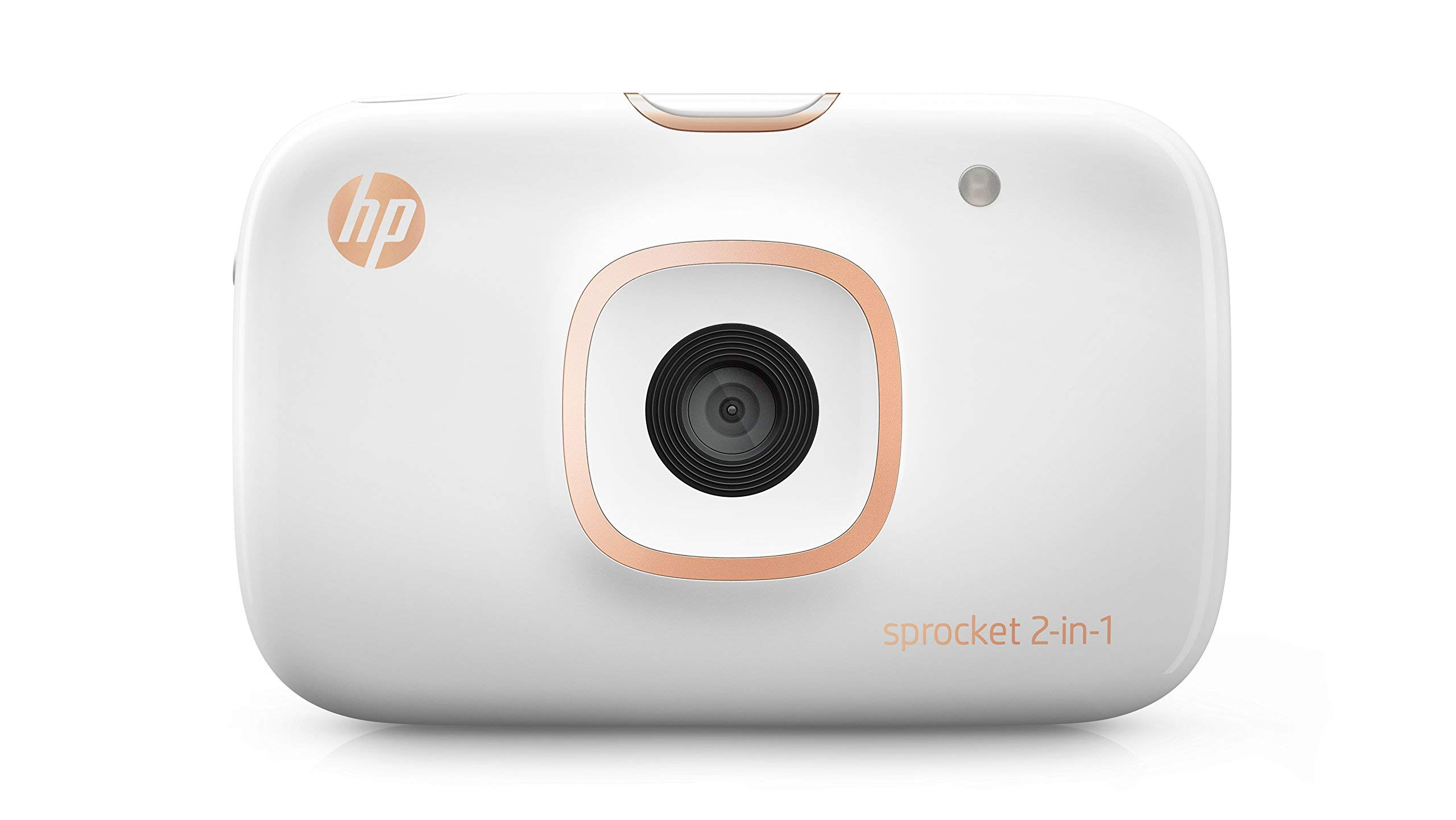 HP Sprocket 2-in-1 Portable Photo Printer & Instant Camera, print social media photos on 2x3'' sticky-backed paper (2FB96A) (Renewed)