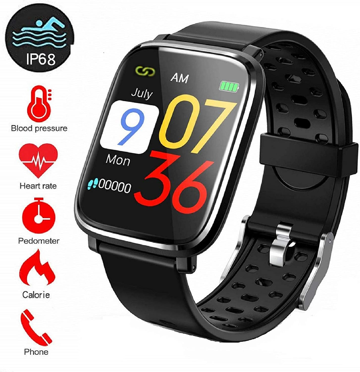 2019 Hombres Mujeres Smartwatch Impermeable IP68 Pulsera ...