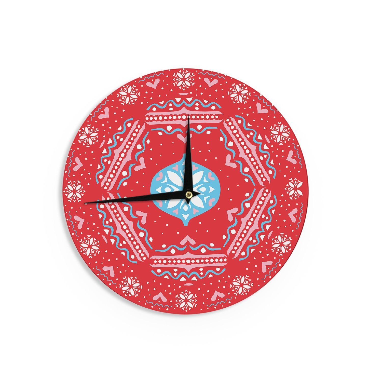 Kess InHouse Miranda MOL Flowering Hearts Wall Clock 12-Inch