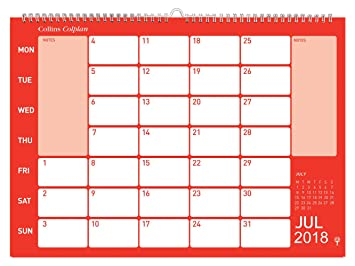 collins colplan 2018 a3 monthly memo calendar amazon co uk office