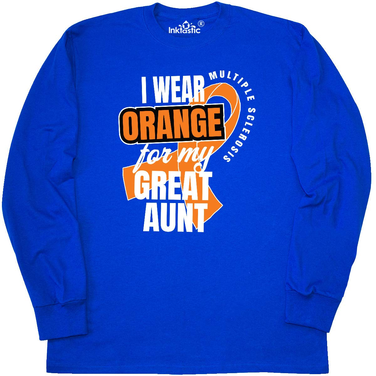 Multiple Sclerosis Baby T-Shirt inktastic I Wear Orange for My Great Aunt