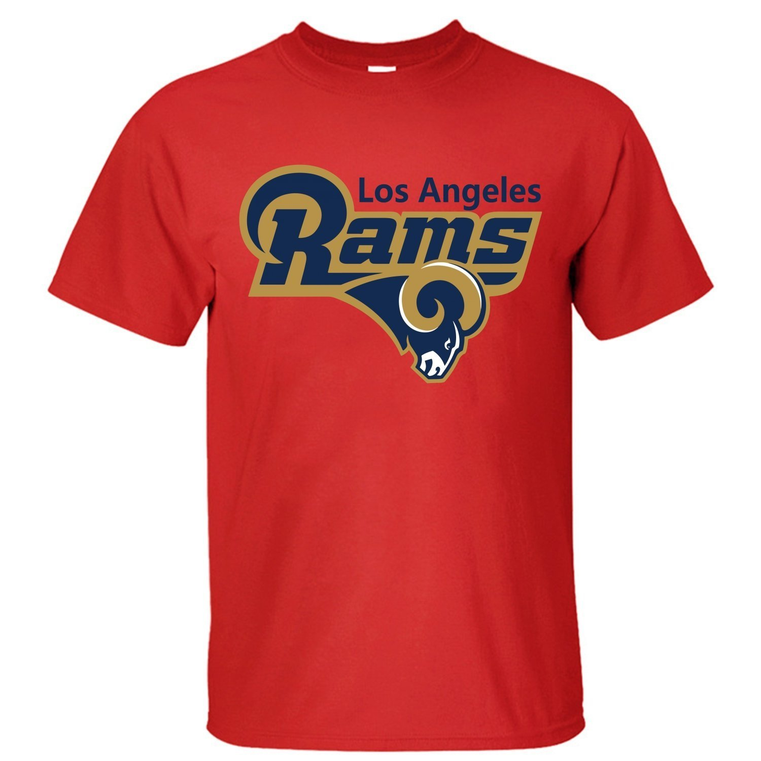 Delifhted Mens Los Angeles Rams 2016 Football LA Rams St Louis Rams Logo Cotton T Shirt