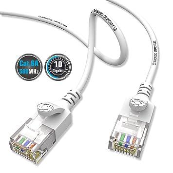 Aixontec Cat6 A 12m Gigabit Ethernet Netzwerkkabel Weiss Dunnes Lan