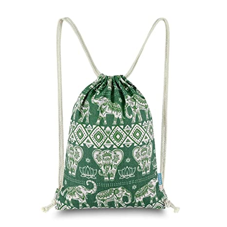 43803cb77109 Miomao Gym Sackpack Drawstring Backpack Elephant Cinch Pack Geometric Sinch  Sack With Pockets Sport String Bag