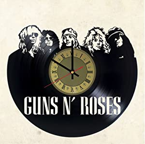 Guns N' Roses Vinyl Clock | Hard Rock Band | Best Gift for GNR Fans | Original Wall Home Decor