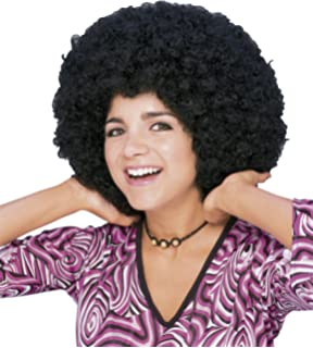 Rubies - Peluca super afro, color negro (50804)