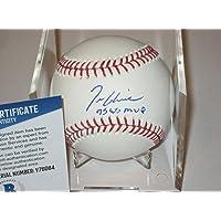 $181 » TOM GLAVINE (Braves) Signed Official MLB Baseball w/Beckett COA & WS MVP Inscr - Autographed Baseballs
