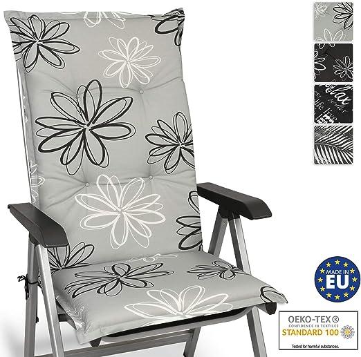 Beautissu Cuscino per Sdraio, poltrone e sedie da Giardino Floral 120x50x6cm Extra Comfort Colori Resistenti ai Raggi UV