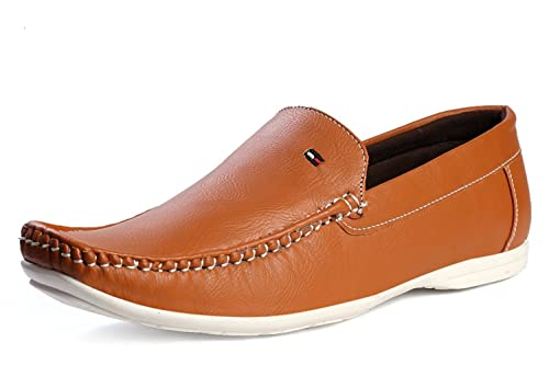 bded7442f5d Rockfield Men s Tan Loafer Shoes  Buy Online at Low Prices in India ...