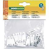 Windhager Laufhaken, weiß, Zubehör für Seilspannmarkise / Sonnensegel (10 Stück)