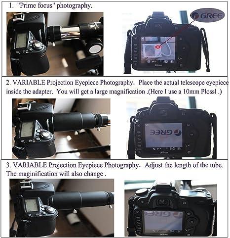 gosky telescopio Kit de adaptador de cámara para Canon cámara ...