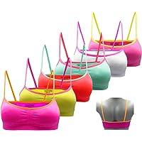 Gloop - Sujetador Deportivo para niña (6 Unidades