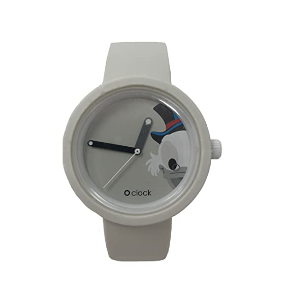 O clock correa blanco + Mecanismo Disney PaperONE L Bianco: Amazon.es: Relojes