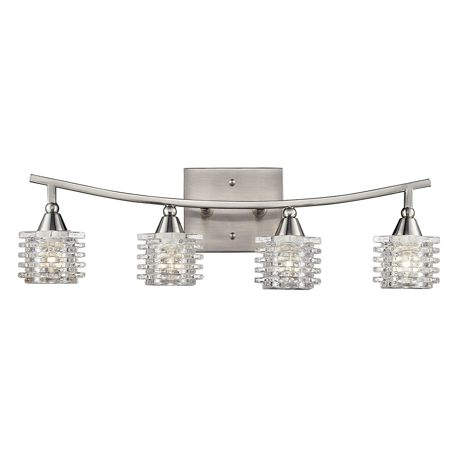 Bath Bar Lights Elk lighting 171324 matrix four light bath bar satin nickel elk lighting 171324 matrix four light bath bar satin nickel vanity lighting fixtures amazon audiocablefo