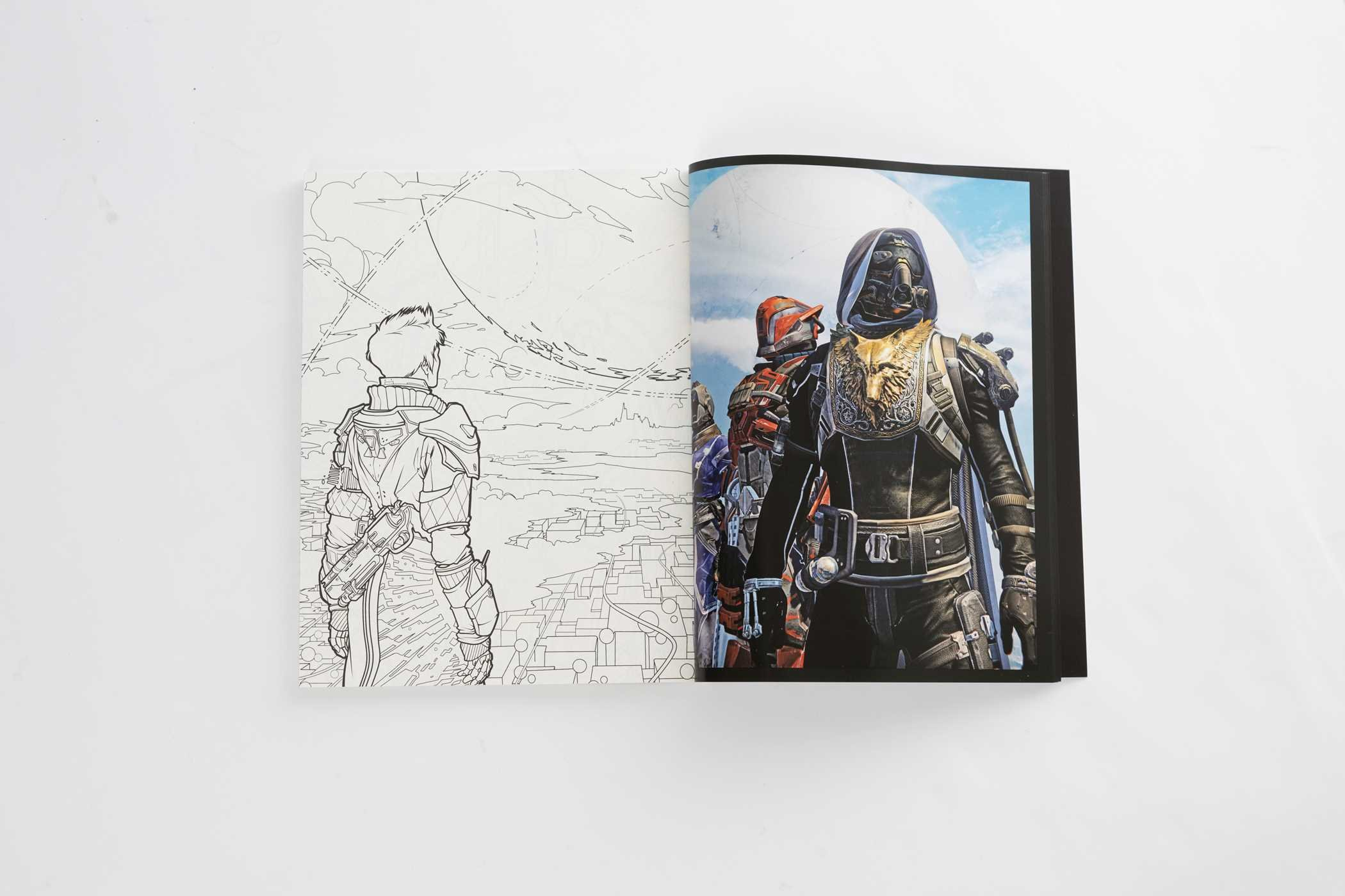 Destiny The Official Coloring Book Colouring Books Amazoncouk Bungie 9781608879229
