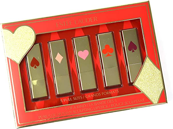 Estee Lauder - Limited Edition - 5 Of A Kind Pure Color Envy Sculpting Lips Gift Set: Amazon.es: Belleza