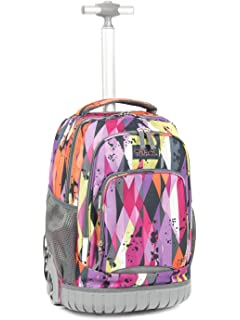 Tilami New Antifouling Design 18 Inch Oversized Load Multi-Compartment Wheeled  Rolling Backpack Luggage for 15a20728a4