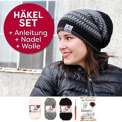 Myboshi Häkelset Mütze S152 A6 Mit Wolle Und Häkelnadel Zum