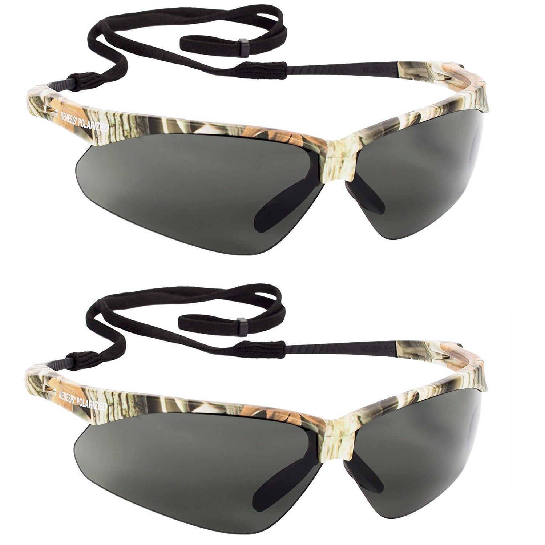74e6036f0a Jackson Safety V30 47417 Nemesis Polarized Safety Glasses (2 Pair) (Camo  Frame with Polarized Smoke Lens) - - Amazon.com