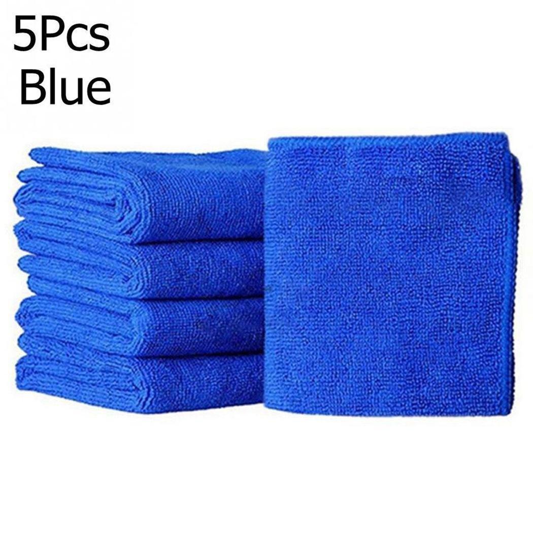 5 carrés en tissus micro fibres