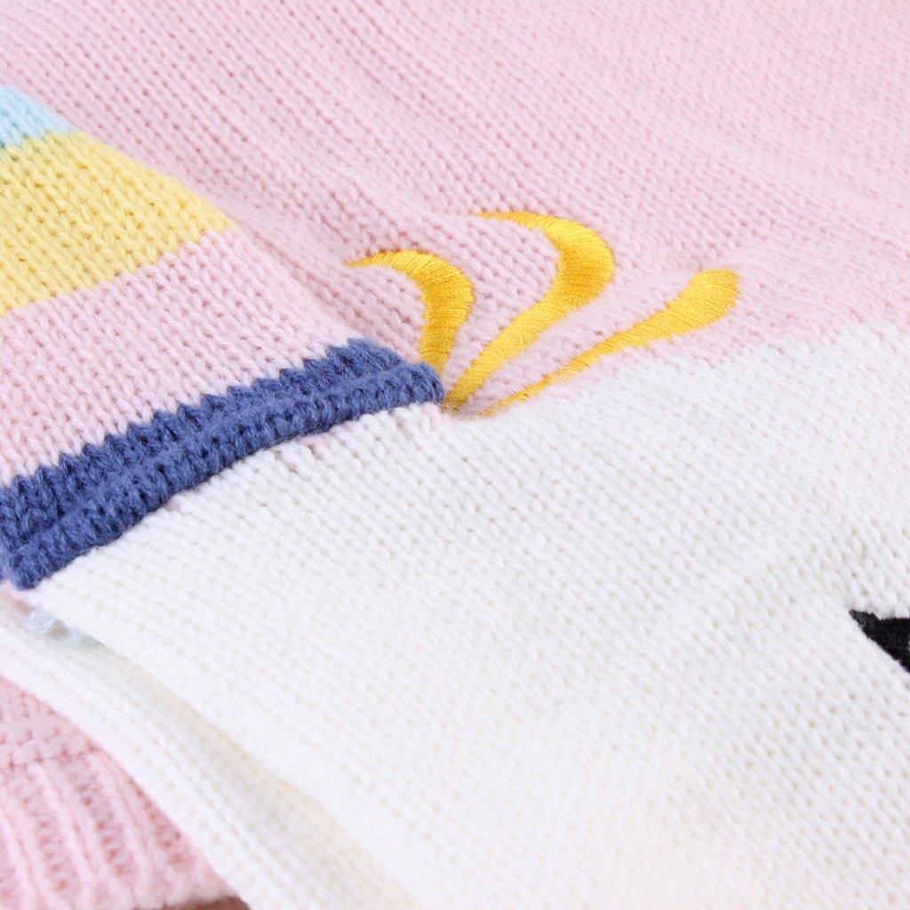 Fenteer 2x Frazadas para Bebés Suave de Punto Unicorn de Azul Rosa Ropa de Cama: Amazon.es: Bebé