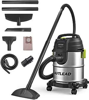 AUTLEAD Aspirador Seco Húmedo, 1000W 20 L Aspirador de usos múltiples de Acero Inoxidable, Aspirador doméstico con función de soplado, Silenciador -WD02A: Amazon.es: Bricolaje y herramientas