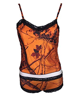 57c042614c2 Amazon.com: Huntress Orange Camouflage Camisole and Hipster Boy ...