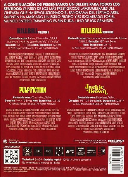 Pack Tarantino: Kill Bill Volumen 1, Kill Bill Volumen 2, Pulp ...