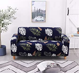 Jaoul Stretch Couch Covers for 3 Cushion Couch, Floral Couch Slipcovers for Three Seat Couch, Printed Furniture Sofa Covers with 2 Pillow Cases Pattern Black 3#