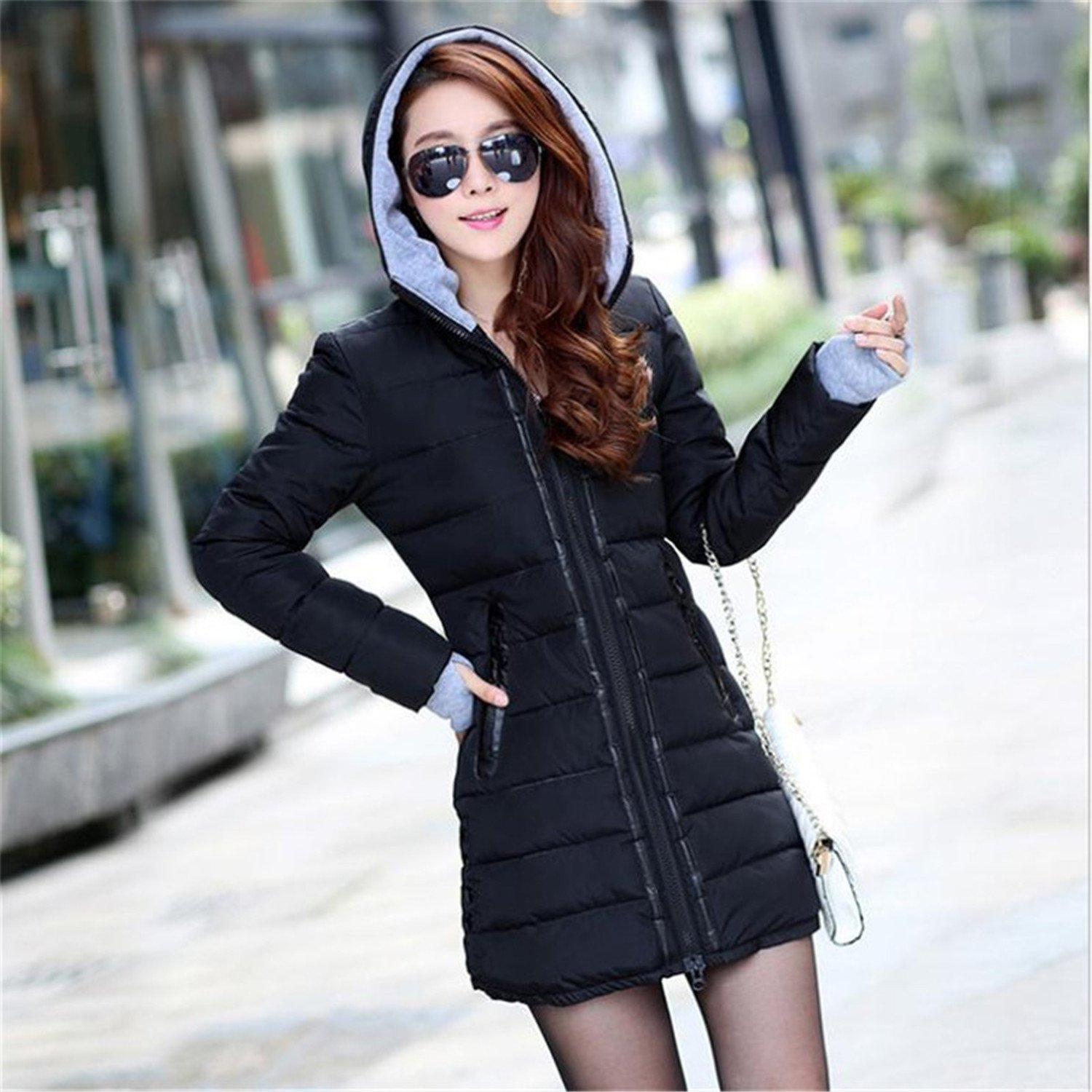 Amazon.com: Dapengzhu New Winter Jacket Women Parka With ...