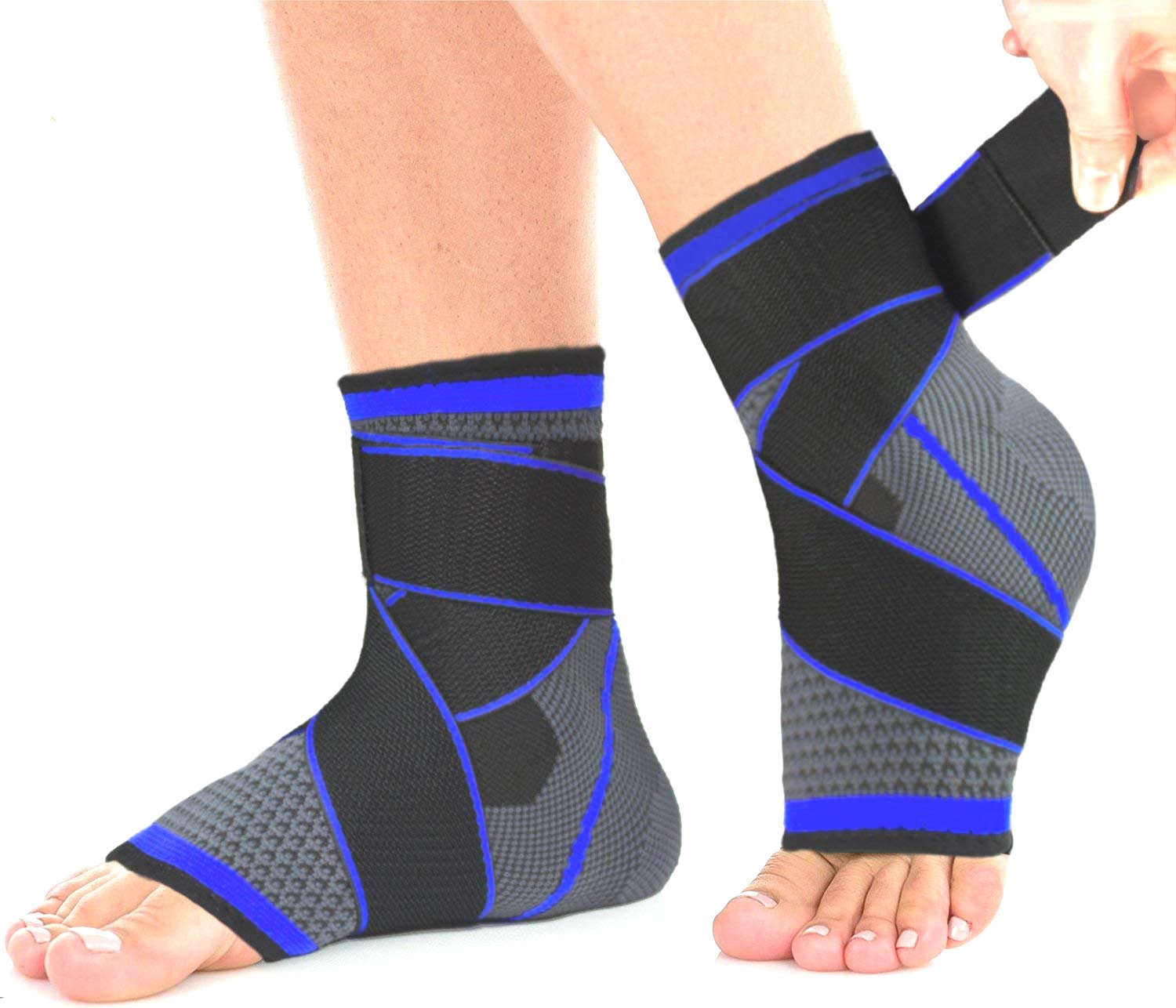 Plantar Fasciitis Compression Sock (Pair), Sport Ankle Brace & Achilles Tendon Sleeve with Arch Support &,Foot Care for Eases Swelling,Pain Relief Heel Spurs by BBLEF