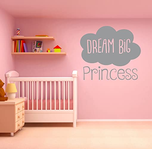 Amazon.com: \'Dream Big Princess\' Quote, Vinyl Wall Art Sticker ...